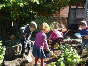 Doing a spot of gardening
