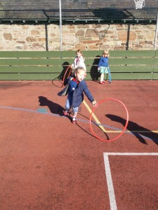 Fun and games at the all weather pitch